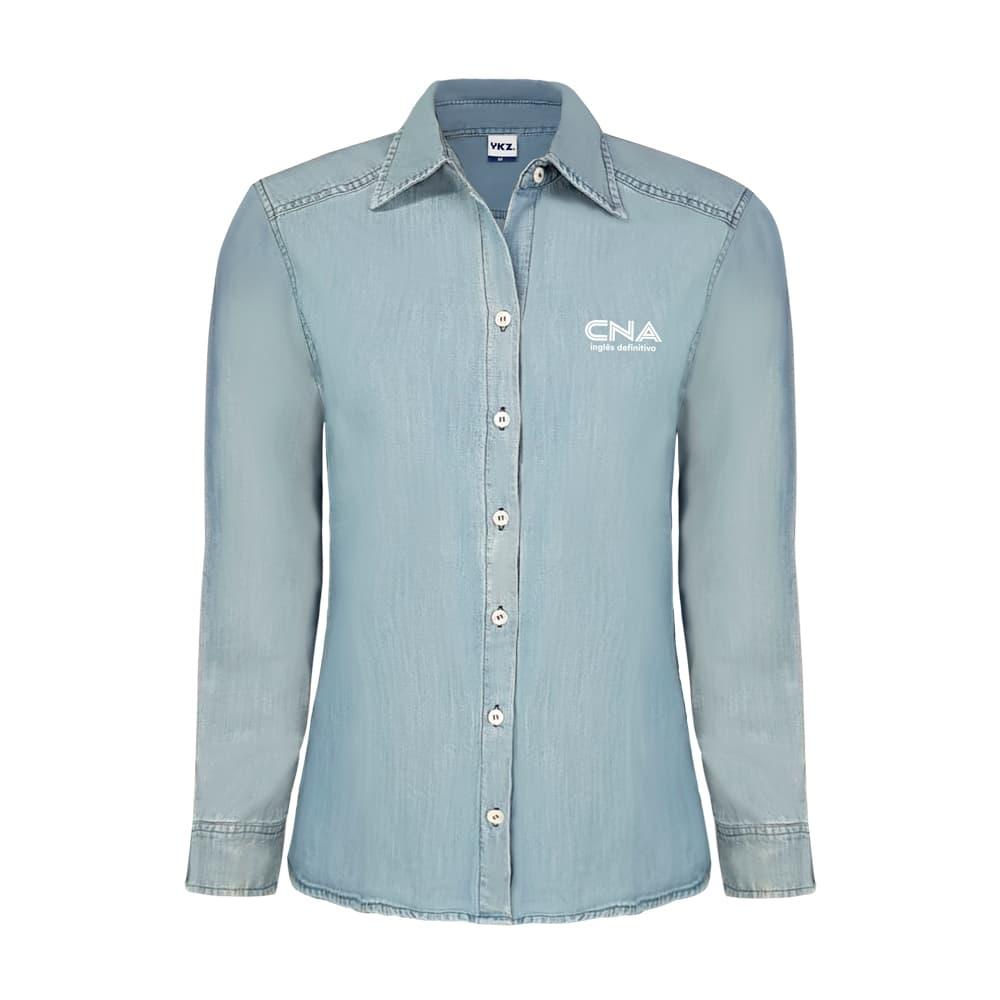Camisa Jeans Lavado Feminino