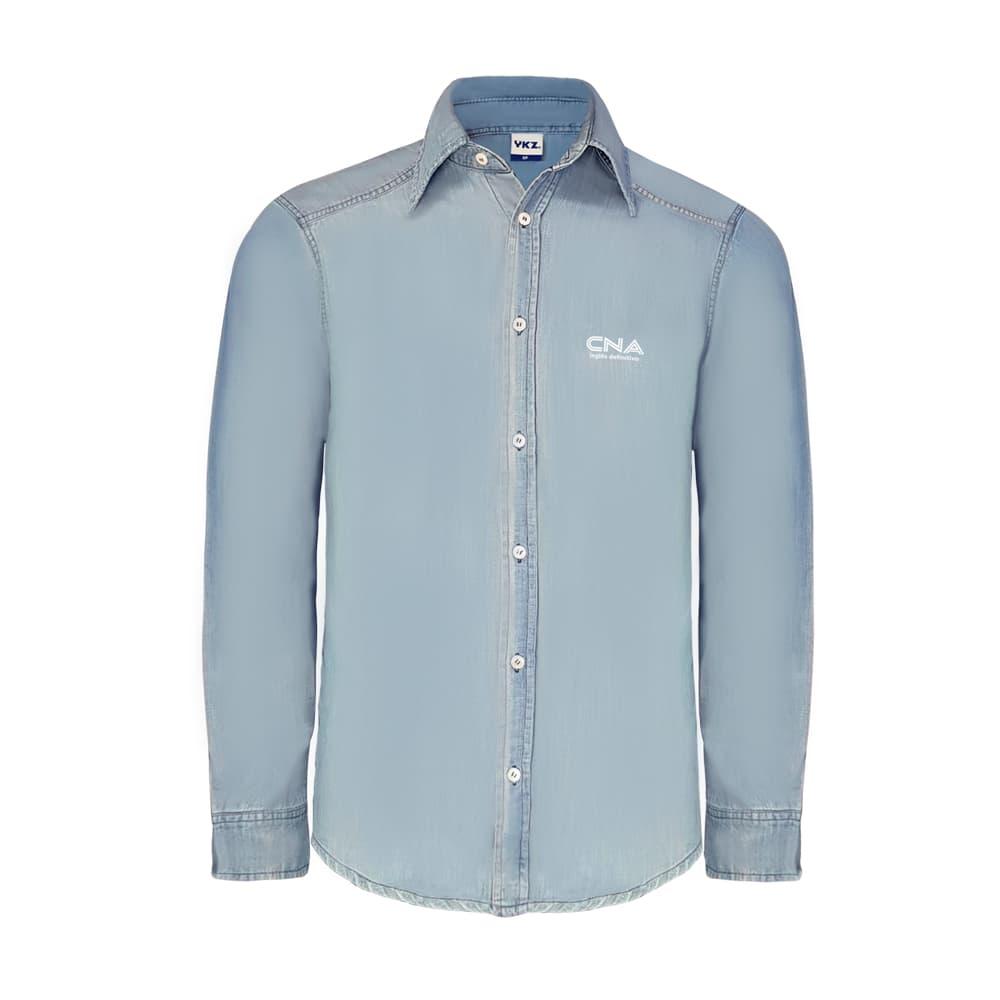 Camisa Jeans Masculino Lavado